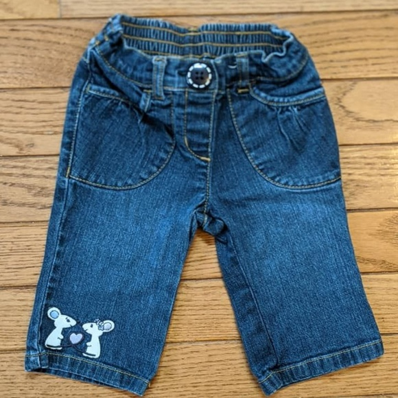 Gymboree Other - Gymboree Mouse Jeans Baby Heart